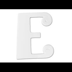 """TILES & PLAQUES 8"""" Curvy Letter E /1 SPO"""