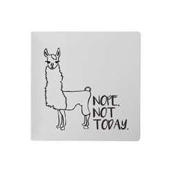 PLATES Not Today Llama Plate/6 SPO