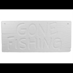 TILES, ETC. Gone Fishing Plaque/6 SPO