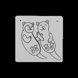 """TILES & PLAQUES Otter Love Plaque 6""""/12 SPO"""