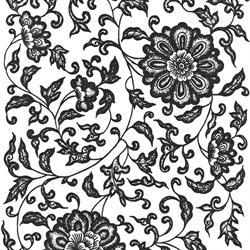 Black Flower 07 Underglaze Decal/1 SPO