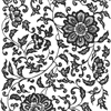Black Flower 07 Underglaze Decal/1 SPO