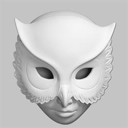 BOXES Owl Mask Box/6 SPO