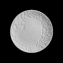 PLATES Natural Owl Plate/6 SPO