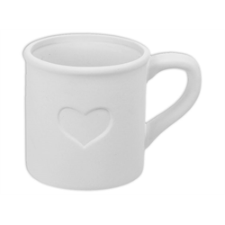 MUGS Heart Tin Mug/6 SPO