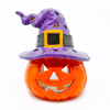 HOME DÉCOR WITCH HAT JACK-O-LANTERN/4 SPO