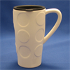 MUGS TRAVEL MUG WITH DOTS w/LID/6