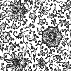Black Flower 03 Underglaze Decal/1 SPO