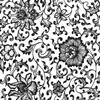 Black Flower 03 Underglaze Decal/1 SPO