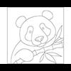 Reusable Pattern (6 pack) - Panda Bear/1 SPO