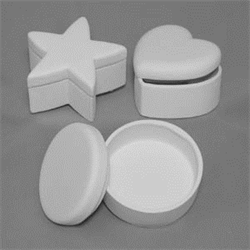 BOXES Round, Star, Heart Box Set/12 SPO