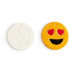 SEASONAL FLAT HEART EYES EMOJI ORNAMENT/12 SPO