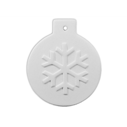 SEASONAL Flat Ball Snowflake Ornament/12 SPO