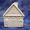 KITCHEN GINGERBREAD HOUSE JAR/4  SPO