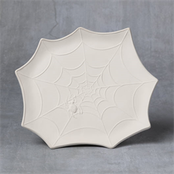 SEASONAL SPIDER WEB PLATE/6 SPO