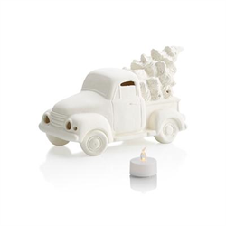 SEASONAL TRUCK with TREE VOTIVE/4 SPO