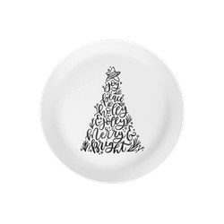 PLATES Christmas Tree Words Plate/6 SPO
