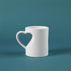 MUGS Medium Heart Mug/12