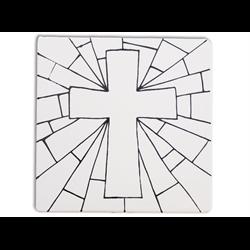 """TILES & PLAQUES Cross  Party Tile 6""""/12 SPO"""