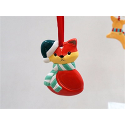 SEASONAL Fox Ornament/12 SPO