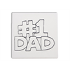"TILES & PLAQUES #1 Dad Party Tile  6""/2 SPO"