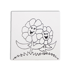 "TILES & PLAQUES Mommy and Me Flower Party Tile 6""/12 SPO"