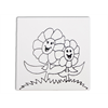 """TILES & PLAQUES Mommy and Me Flower Party Tile 6""""/12 SPO"""