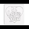 """TILES & PLAQUES I Love You Heart Party Tile 6""""/12 SPO"""