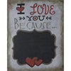 Pattern Pack - Love You Because (Chalkboard)/1 SPO