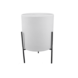 HOME DÉCOR Large Cylinder Planter w/ Stand/2 SPO
