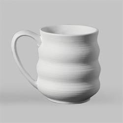 Wavy Pottery Mug (Casting Mold - 2 per mold) SPO