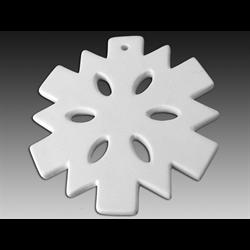 SEASONAL Flat Snowflake Ornament/12 SPO