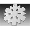 SEASONAL Flat Snowflake Ornament/12 SPO