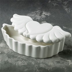 BOXES Heart w/wings Trinket Box/6 SPO