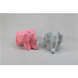 HOME DÉCOR Origami Elephant Drainer/ Planter/6 SPO