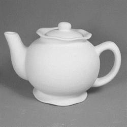 KITCHEN Ruffle Tea Pot/6 SPO