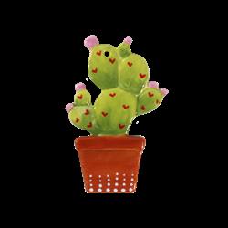 SEASONAL Potted Cactus Ornament/12 SPO