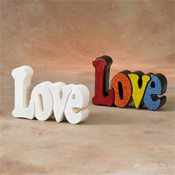 TILES, ETC. LOVE WORD PLAQUE/6 SPO