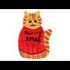 SEASONAL Cat Ornament/12 SPO