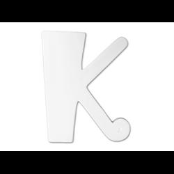 """TILES & PLAQUES 8"""" Curvy Letter K /1 SPO"""