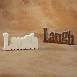TILES, ETC. LAUGH WORD PLAQUE/6 SPO