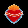 SEASONAL Crest Heart Ornament/12 SPO