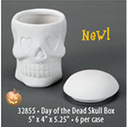 BOXES DAY OF THE DEAD SKULL BOX/6 SPO