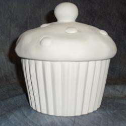 BOXES MEDIUM CUPCAKE COOKIE JAR/4 SPO