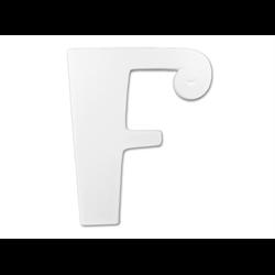 """TILES & PLAQUES 8"""" Curvy Letter F /1 SPO"""