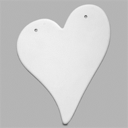 TILES, ETC. Heart Plaque/6 SPO