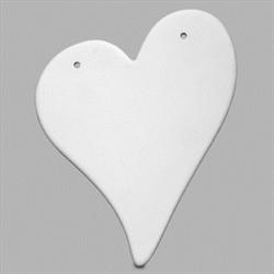 TILES, ETC. Heart Plaque/6 SPO