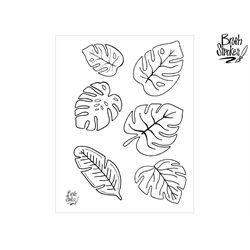 Tropical Leaves Silkscreen/1 SPO