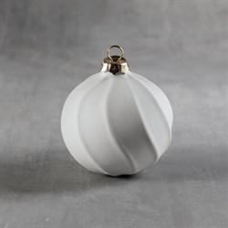 SEASONAL Ribbon Striped Ornament/12 SPO