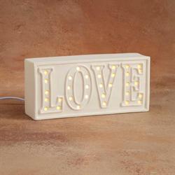 HOME DÉCOR LOVE LIGHT-UP WORD PLAQUE/4 SPO